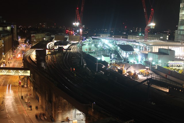 Ballast is delivered on the approach to the new Borough Market viaduct