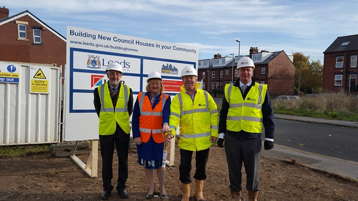Council projects to create new housing and jobs get underway in Leeds: garnetssodcutting.jpg