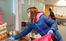 3. Emma Morrow at the British Red Cross Hillington Glasgow base