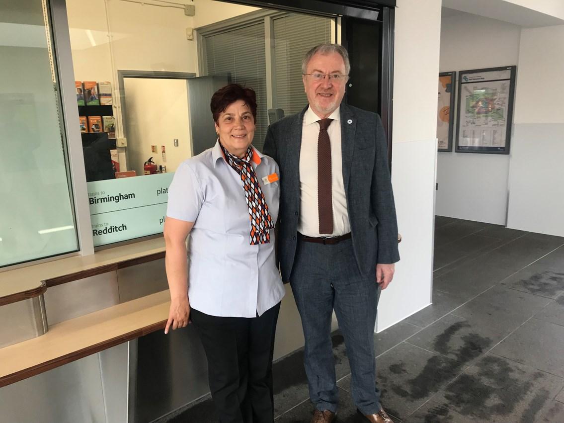 Richard Burden MP with Adella Davidson West Midlands Trains