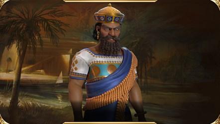 Civilization VI - New Frontier Pass - Hammurabi Leader Art