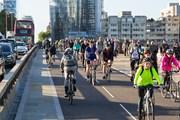 TfL Image - Cycling on Blackfriars Bridge