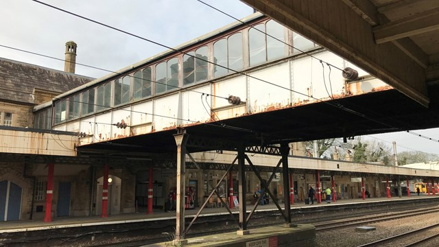 Grade II listed Lancaster station footbridge to undergo major overhaul: Lancaster station footbridge external