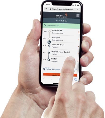 Avanti West Coast launches customised real-time journey updates onboard: Track My Train 1