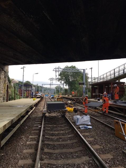 Lostock station platform work