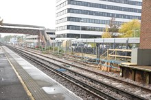 Platforms at Bracknell station are being extended to accommodate longer trains, as part of the £800 million Waterloo & South West Upgrade