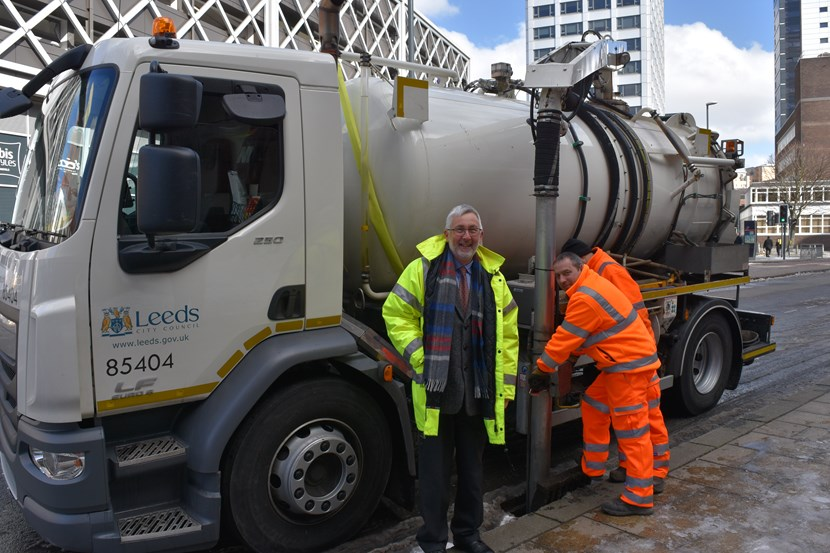 Gully cleaning team ahead of schedule in fight to protect Leeds from flooding: gullycleaning19march20181.jpg