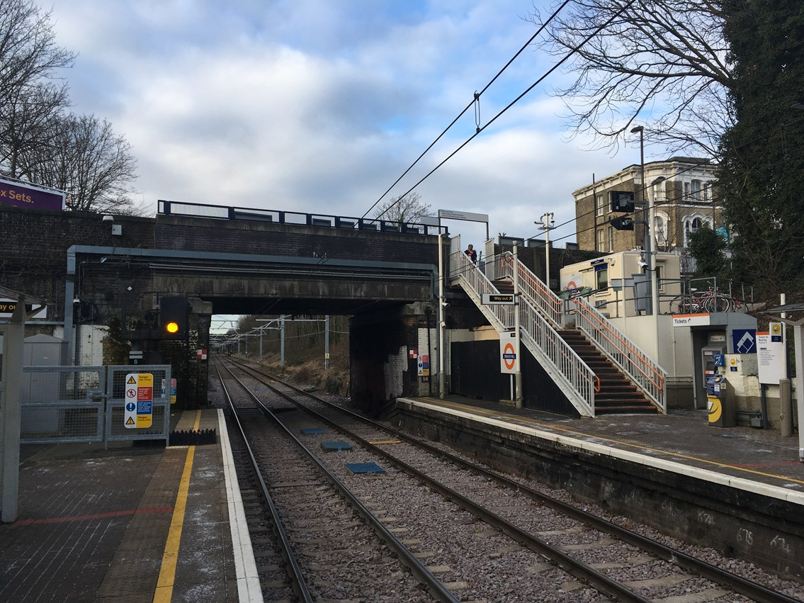 Reminder: Work to raise bridge over the railway at Crouch Hill to begin this month: Crouch Hill bridge from station