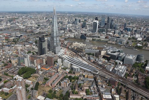 Thameslink Programme - Aerial view of London Bridge 9