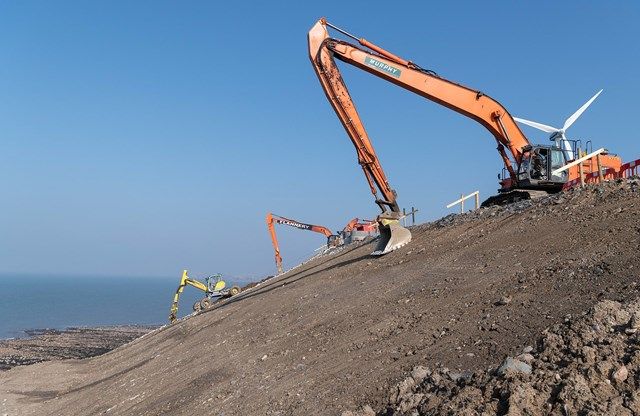 Diggers in action at Lowca -  Photo credit: J Murphy & Sons