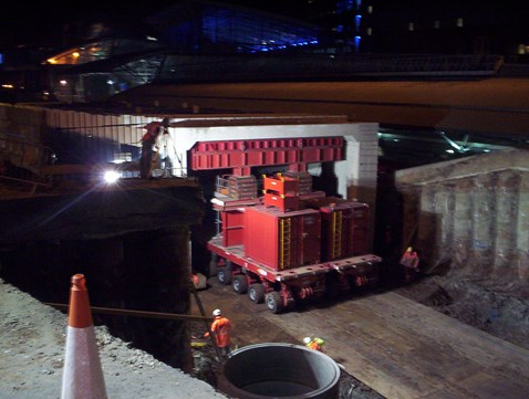 Manchester Airport bridge slide