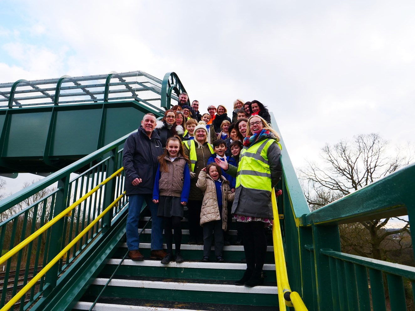 Network Rail closes Britain's busiest foot crossing – keeping families safe from 90mph trains in Surrey village: Dean Farm School