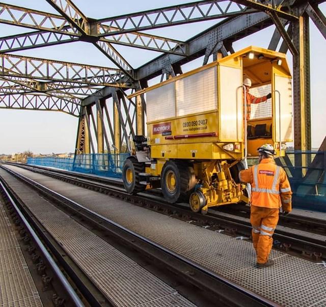 Improved reliability following emergency railway works between Ely and Peterborough: Manea RRV bridge