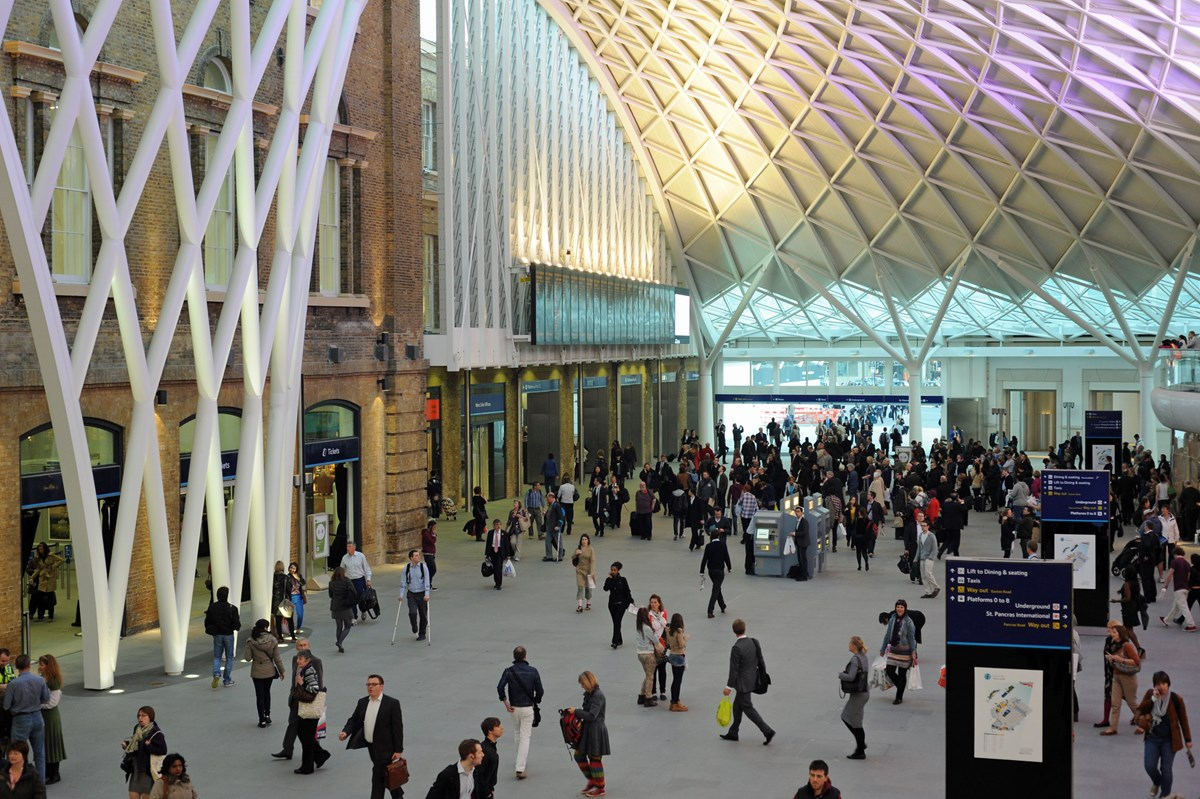 London Kings Cross station concourse