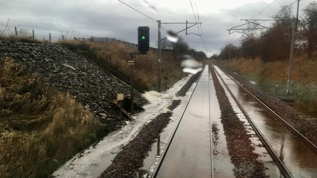 Passengers warned further wet weather could cause rail disruption: Flooding from Storm Ciara February 2020