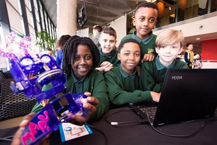 Angel Gyamema, TJ Wilson, Nyrell Bell, Nahom Getachew, Alfie Linley from Clerkenwell Primary School