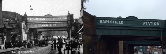 Network Rail completes revitalisation of historic bridges in Wandsworth: Earlsfield station- old and new-2