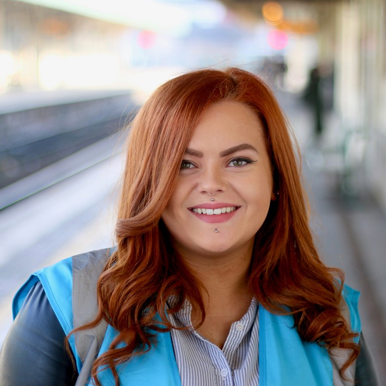 UK's first ever Community Rail Apprentice from South Wales is on track for a First-Class career: Danielle Hopkins-3
