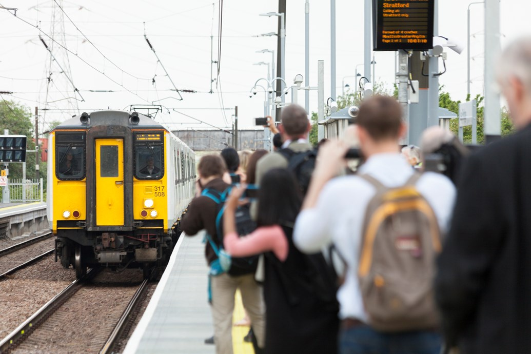 London's newest station offers a journey time of just six minutes to two of the city's key transport hubs: Lea Bridge official first train