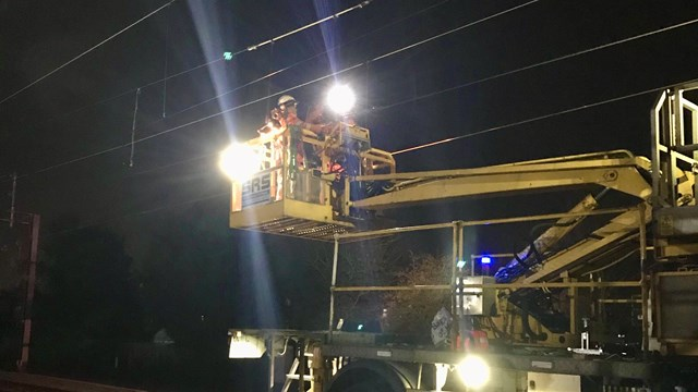 Repairs to overhead lines at South Kenton