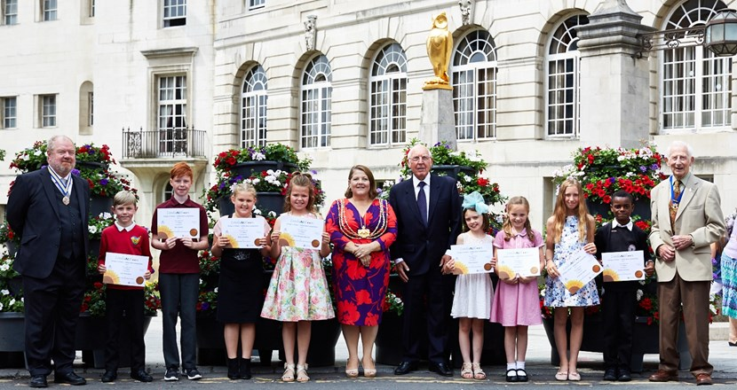 Edible flowerbed designs by youngsters receive top marks at special Leeds Civic Hall event: leedsinbloom-awards-june2017-official.jpg