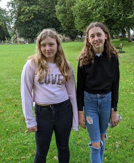 Nicole Harris (left) and Lexie Bosher  (2)