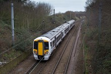 Battery-powered train (IPEMU) from above: The new train contributes to Network Rail's commitment to reduce its environmental impact, improve sustainability and reduce the cost of running the railway by 20 per cent over the next five years. It could ultimately lead to a fleet of battery-powered trains running on Britain's rail network which are quieter and more efficient than diesel-powered trains, making them better for passengers and the environment. Network Rail and its industry partners – including Bombardier, Abellio Greater Anglia, FutureRailway and the Rail Executive arm of the Department for Transport (which is co-funding the project) – recognise the potential for battery-powered trains to bridge gaps between electrified parts of the network and to run on branch lines where it would be too expensive to install overhead electrification.