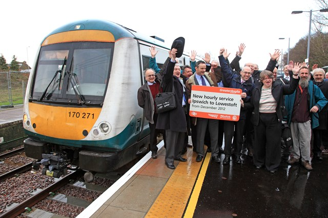 New hourly service on East Suffolk line: Launch of new hourly service on East Suffolk line