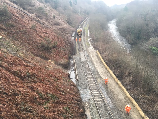 Network Rail and Arriva Trains Wales thank passengers as railway reopens between Porth and Treherbert: Network Rail engineers have removed over 150 tonnes of debris from the line between Porth and Treherbert