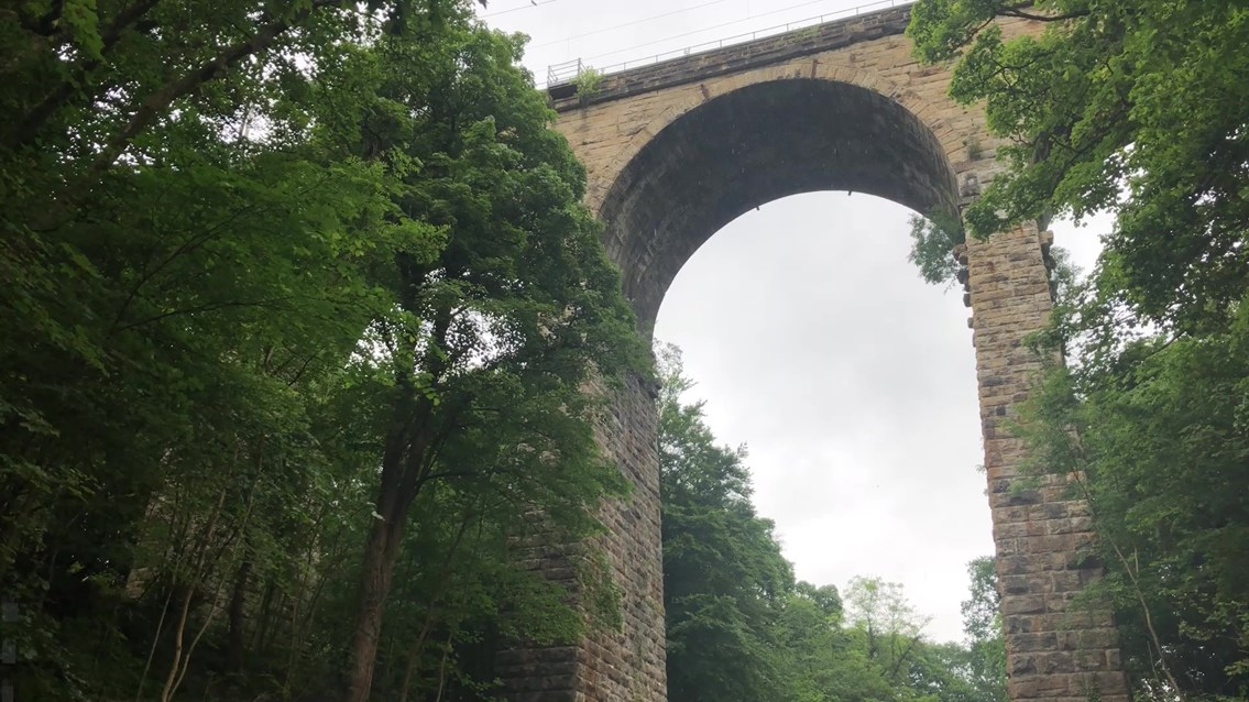 Viaduct protection work begins at Orbiston: orbiston viaduct north lanarkshire
