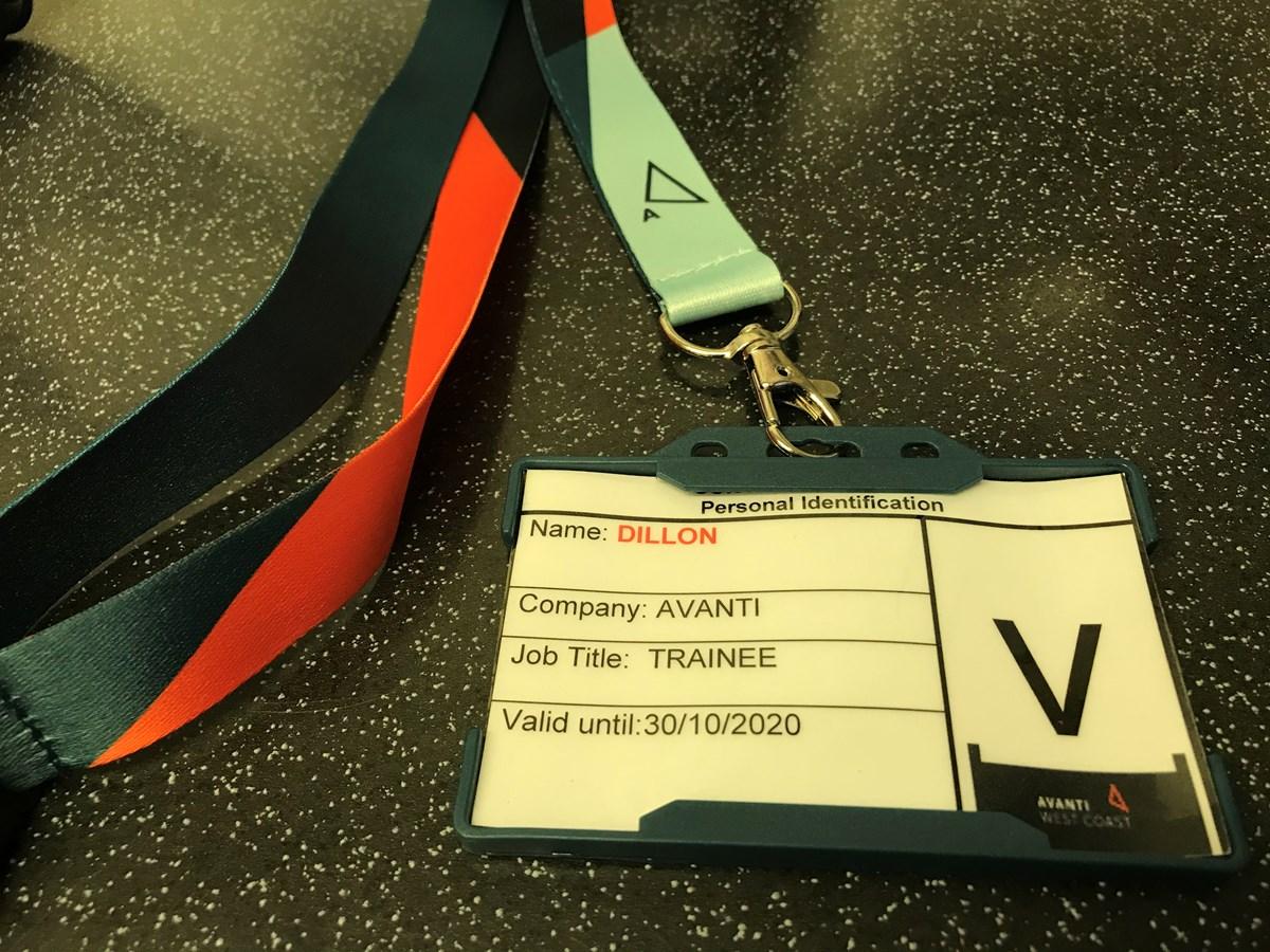 Dillon - Avanti West Coast name badge