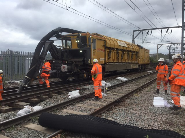 Wolverhampton ballast replacement late May Bank Holiday 2020
