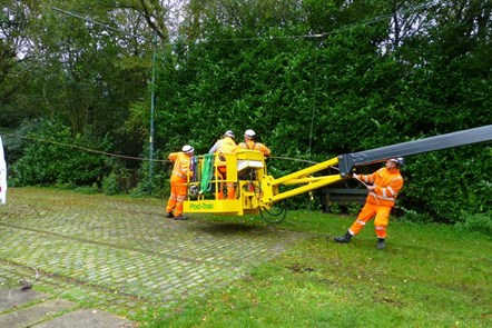 Heaton Park tramway cable repairs