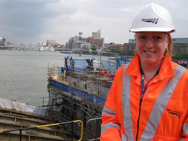 Liz Wilson, Network Rail project manager, Blackfriars