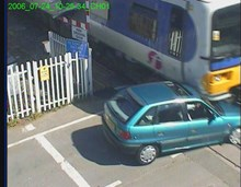 Shiplake level crossing collision (1): Shiplake level crossing collision (1)