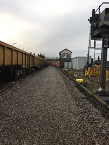 Work at Abergele forms part of the £50m North Wales railway upgrade project