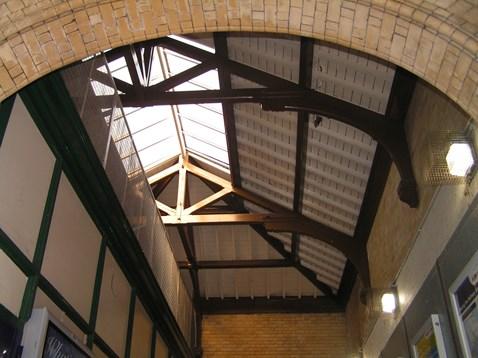 Walkden station hammerbeam roof