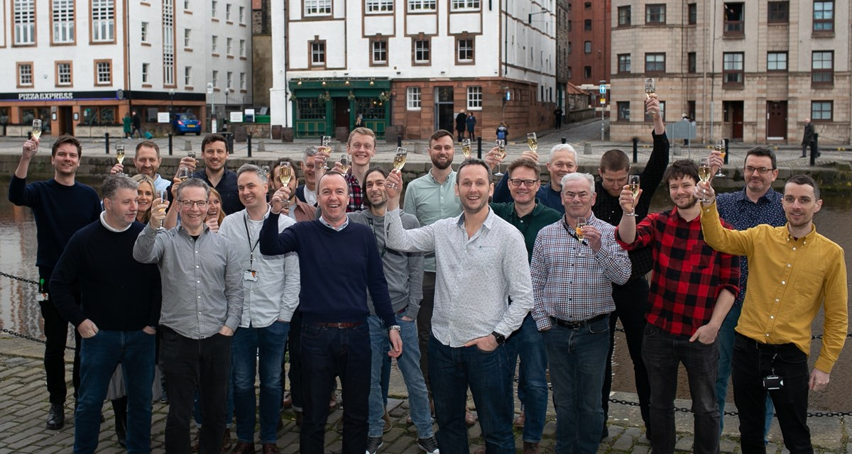 IMG 3411-2: The Shore team pictured at a company event in pre-Covid times