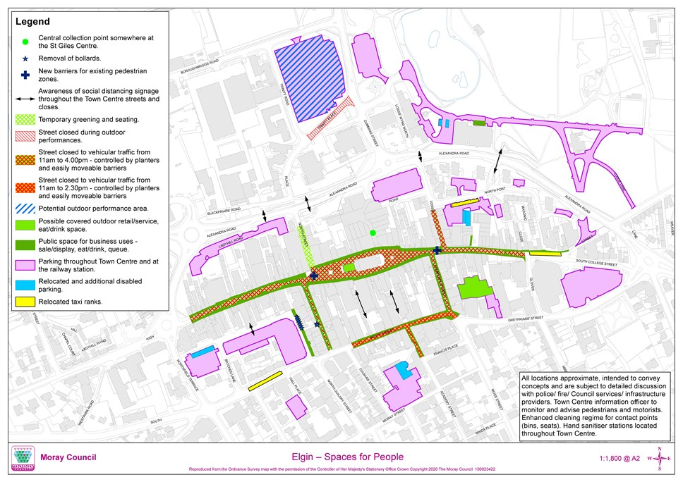 Changes to Elgin town centre proposed to enable safe shopping: ElginSpacesForPeople-3