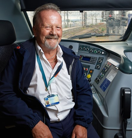Avanti West Coast Steve Wilson 2: Steve Wilson (Train Driver, Avanti West Coast) in the driver's cab