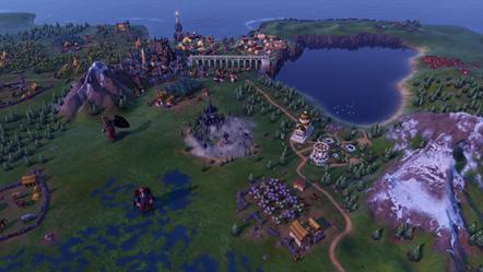Civilization VI - New Frontier Pass - Secret Societies - Sanguine Pact Vampire Castle