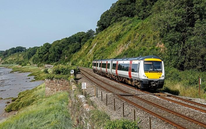 Class 170 between Chepstow and Gloucester