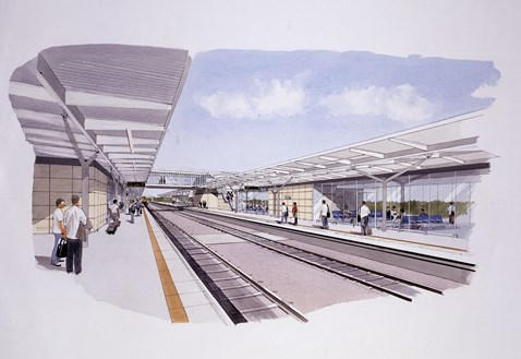 New canopies at Derby station