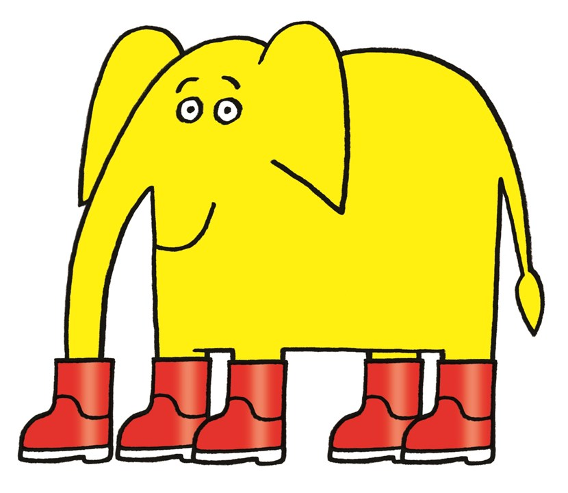 New family-friendly exhibition by illustrator Nick Sharratt set to open at Leeds Central Library : wellyphant.jpg