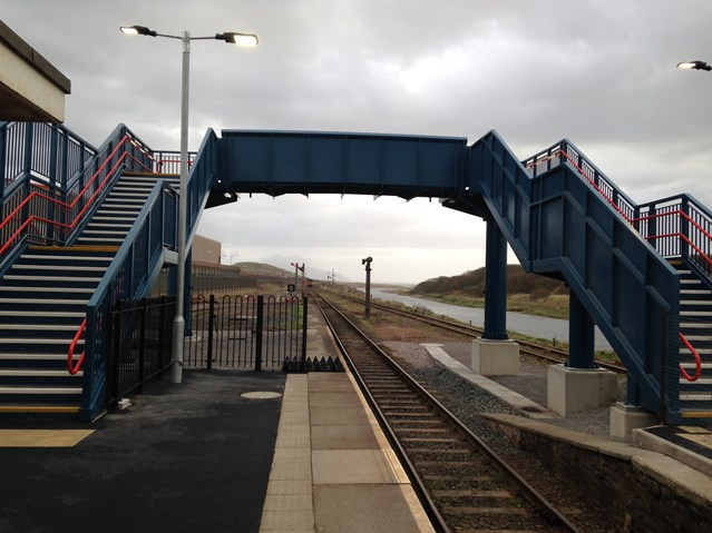 Christmas comes early for Sellafield passengers with £1m new bridge: Sellafield new footbridge