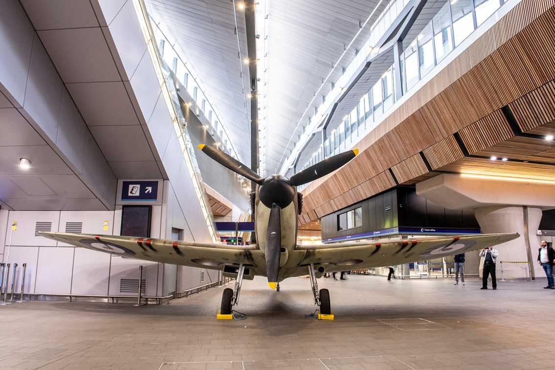 Spitfire lands at London Bridge to mark 75 years since the D-Day landings: IWM 2019 037 0119