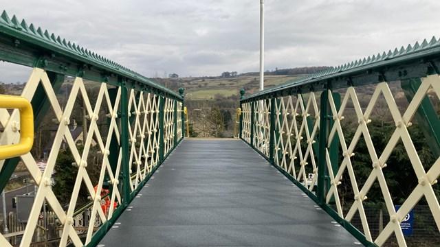 Furness Vale station's Victorian railway footbridge restored for passengers: Furness Vale footbridge deck