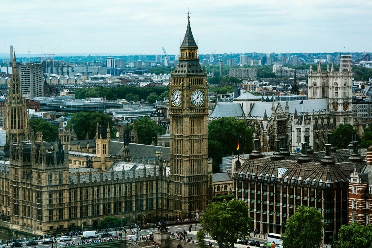 UK parliament aerial