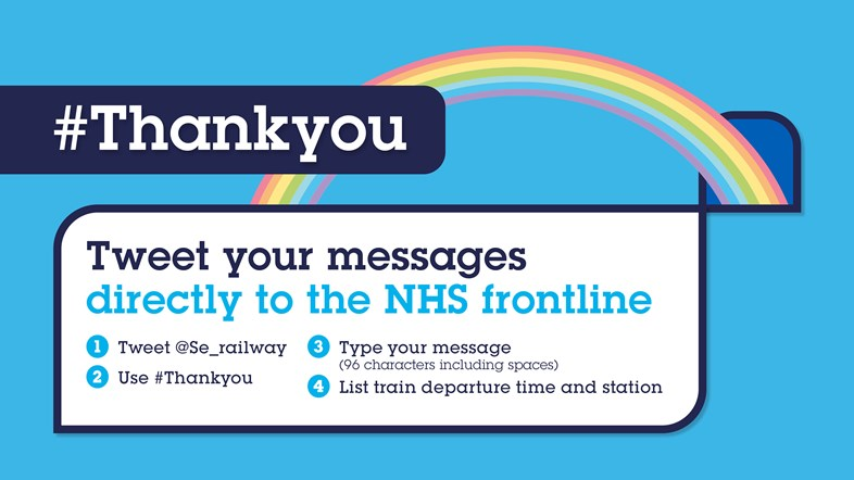 Say 'Thank You' with a Tweet:  Southeastern launches new campaign to give thanks to NHS and key worker heroes: Thankyou TwitterCards FINAL