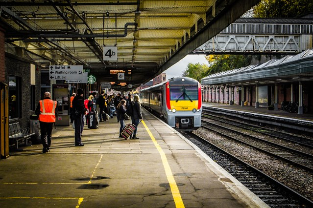 Passengers at the heart of Network Rail Wales and Borders' five-year spending plan: Passengers at Shrewsbury Station